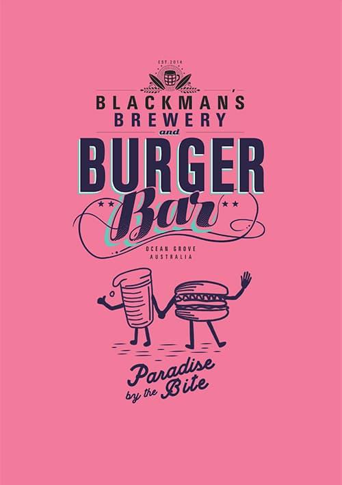 Blackmans Brewery Burger Bar Menu